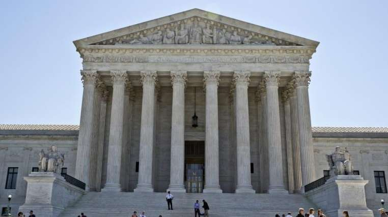The Supreme Court building is seen in Washington,