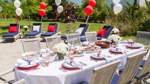 A high-end barbecue set up by Sara Tara