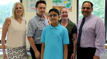 Commack Middle School seventh-grader Rohan Surana was awarded