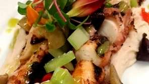 Warm octopus salad is a starter at Casa