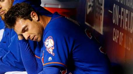 Steven Matz of the New York Mets sits