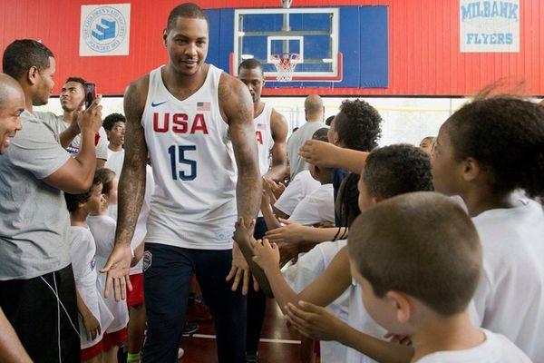 U.S. men's Olympic basketball team player Carmelo Anthony