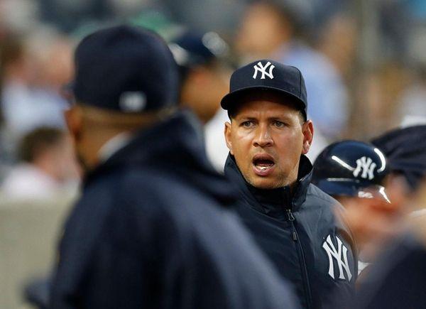 New York Yankees designated hitter Alex Rodriguez calls