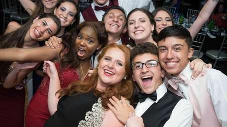 Oceanside High School students and dates show off