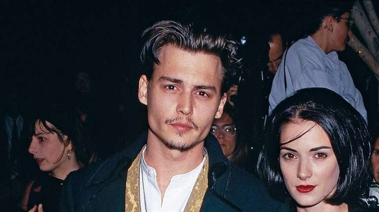 Actor Johnny Depp and actress Winona Ryder arrive
