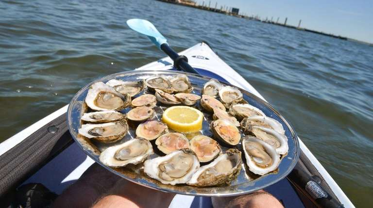 Blue Island Oyster Co. offers kayak tours from