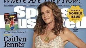 Caitlyn Jenner wears her gold medal on the