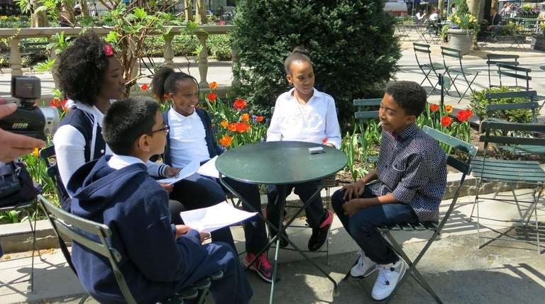 Miles Brown talks with Kidsday reporters Kalvindra Parasram,