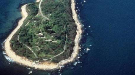 Plum Island is seen in this undated aerial