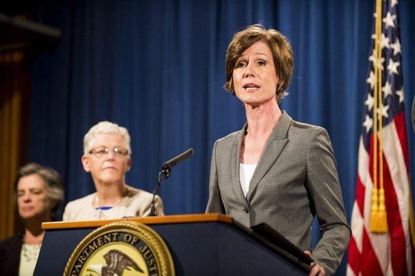 Deputy Attorney General Sally Q. Yates speaks during