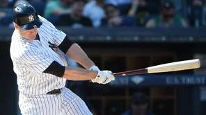 New York Yankees third baseman Chase Headley hits