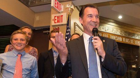 Thomas Suozzi, a former Nassau County executive, makes