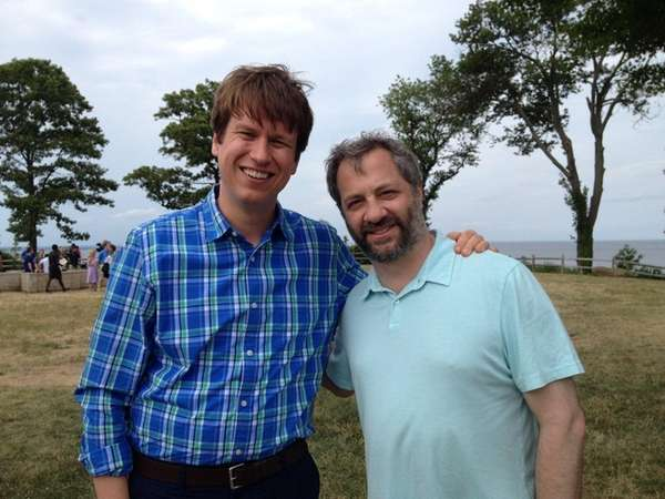 Actor-comic Pete Holmes, left, and director Judd Apatow