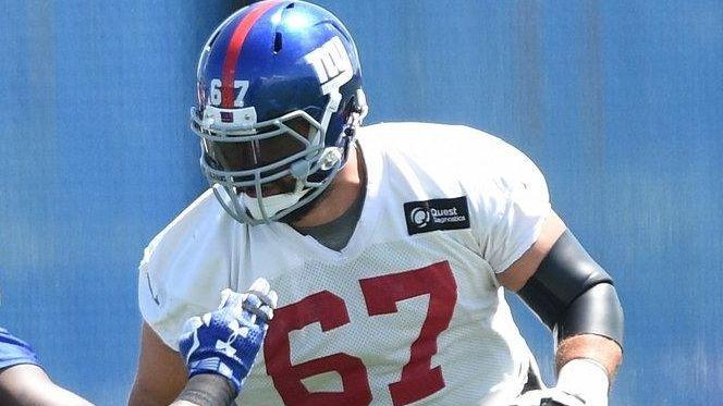 New York Giants defensive end Jason Pierre-Paul participates