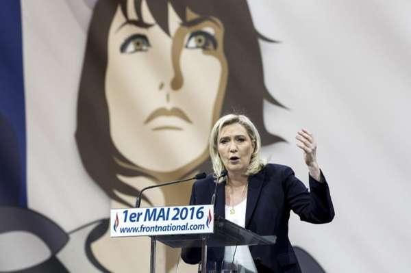 France's far-right National Front party leader Marine Le