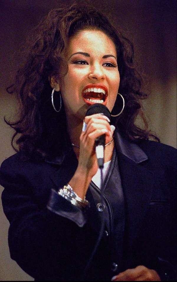 The late Selena Quintanilla, above in 1994, will