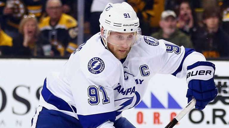 Steven Stamkos of the Tampa Bay Lightning approaches