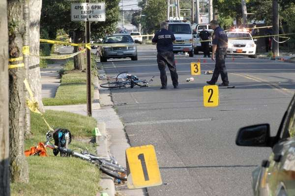 The woman killed while bicycling with her father