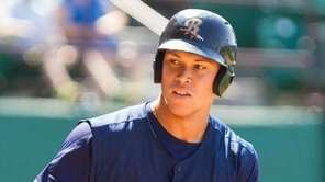 Scranton Wilkes-Barre RailRiders right fielder Aaron Judge (99)