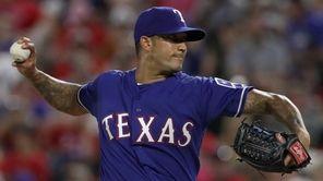 Matt Bush of the Texas Rangers makes his