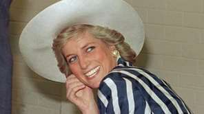 Princess of Wales Diana, during her visit to