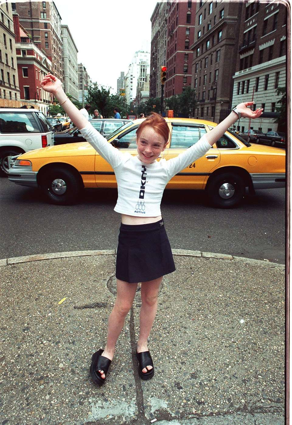Lindsay Lohan, 11, in Manhattan on July 30,
