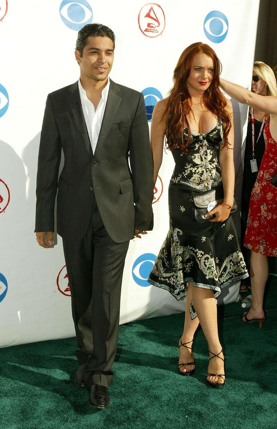 Lindsay Lohan arrives with Wilmer Valderrama for the
