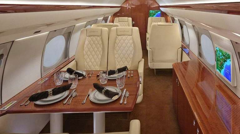 Interior of a 14-passenger Gulfstream Aerospace G4SP, the