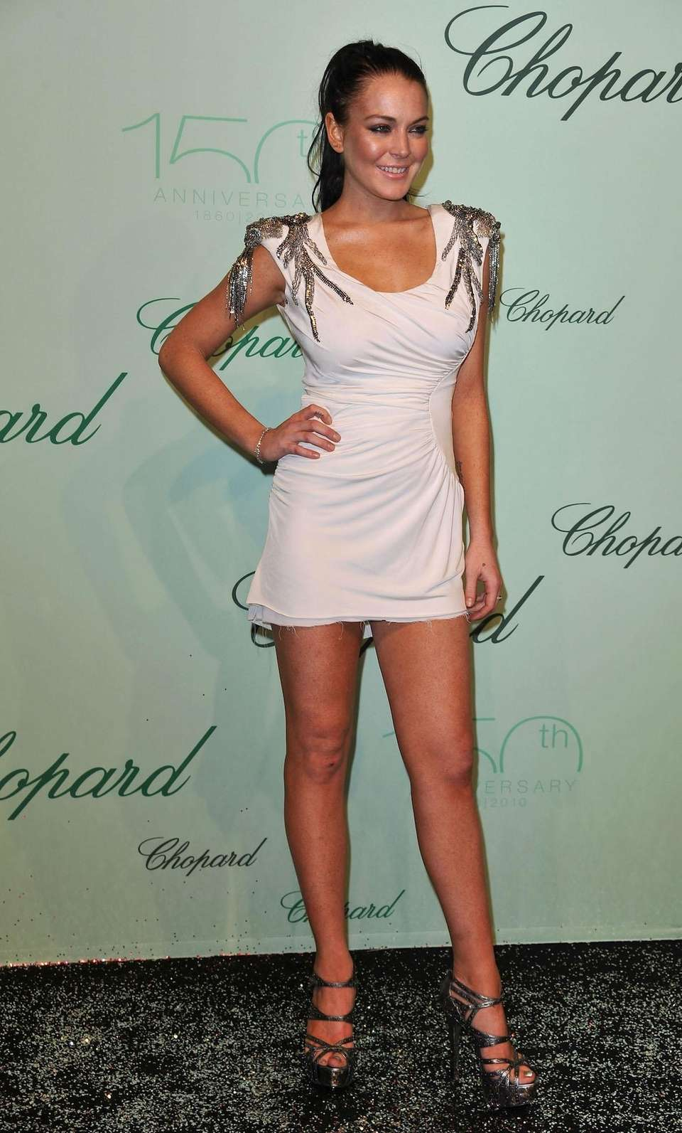Lindsay Lohan attends the Chopard 150th anniversary party