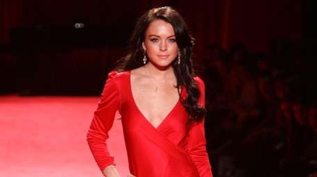 Lindsay Lohan walks the runway on Feb. 3,