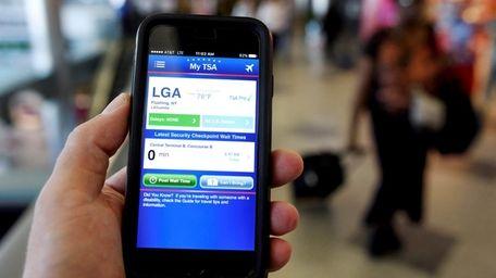 An iPhone displays the My TSA app indicating