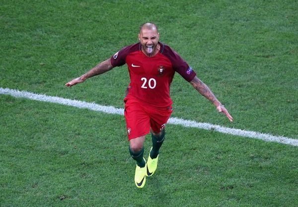 Ricardo Quaresma of Portugal celebrates scoring a shootout