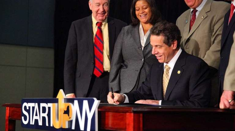 Gov. Andrew M. Cuomo discusses Start-Up NY at