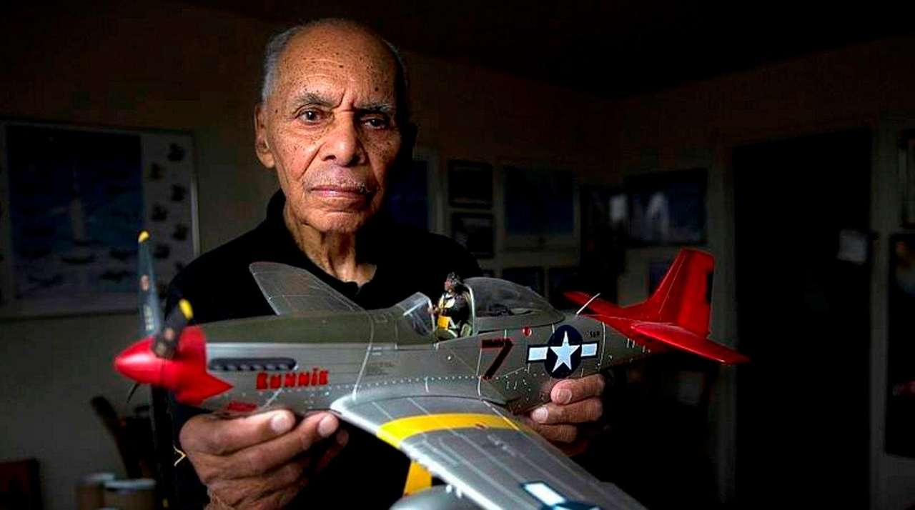 Tuskegee Airman Roscoe Brown Jr. at his Bronx