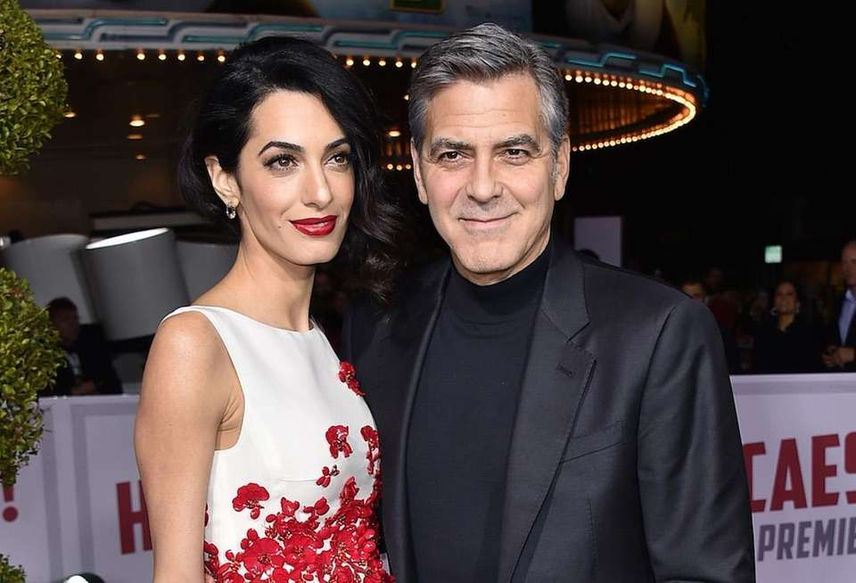 Couple Amal and George Clooney co-hosted a fundraising