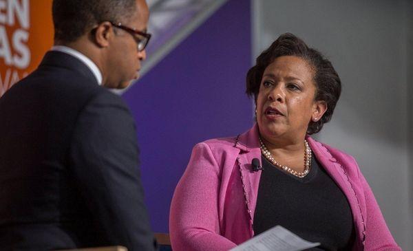 U.S. Attorney General Loretta Lynch during a conference