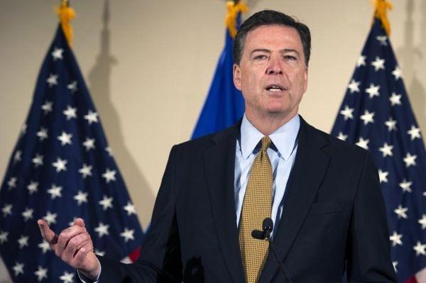 FBI director James Comey at FBI headquarters in