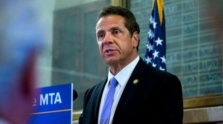 Gov. Andrew M. Cuomo talks about the MTA's
