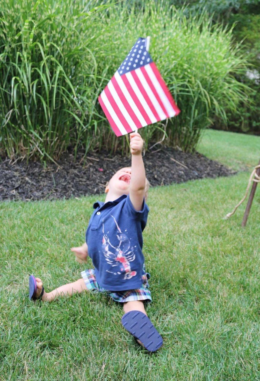 Benji's proud to be an American!