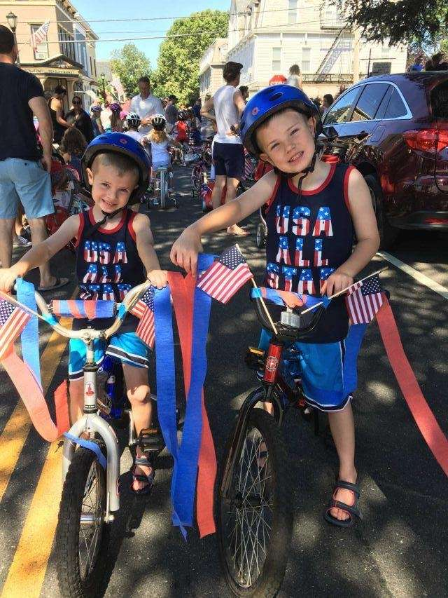 Celebrating the 4th of July. Ty (age 7)
