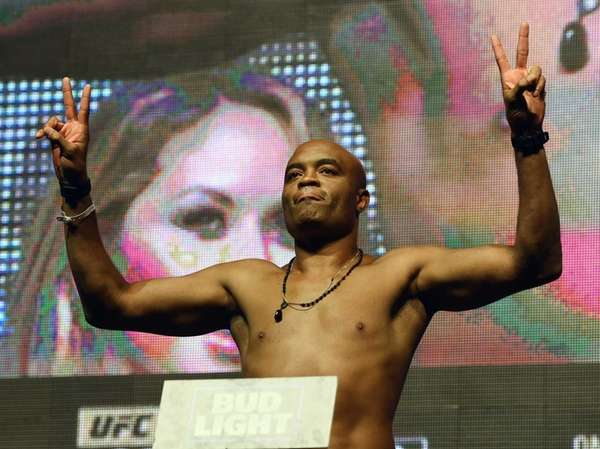Mixed martial artist Anderson Silva poses on the