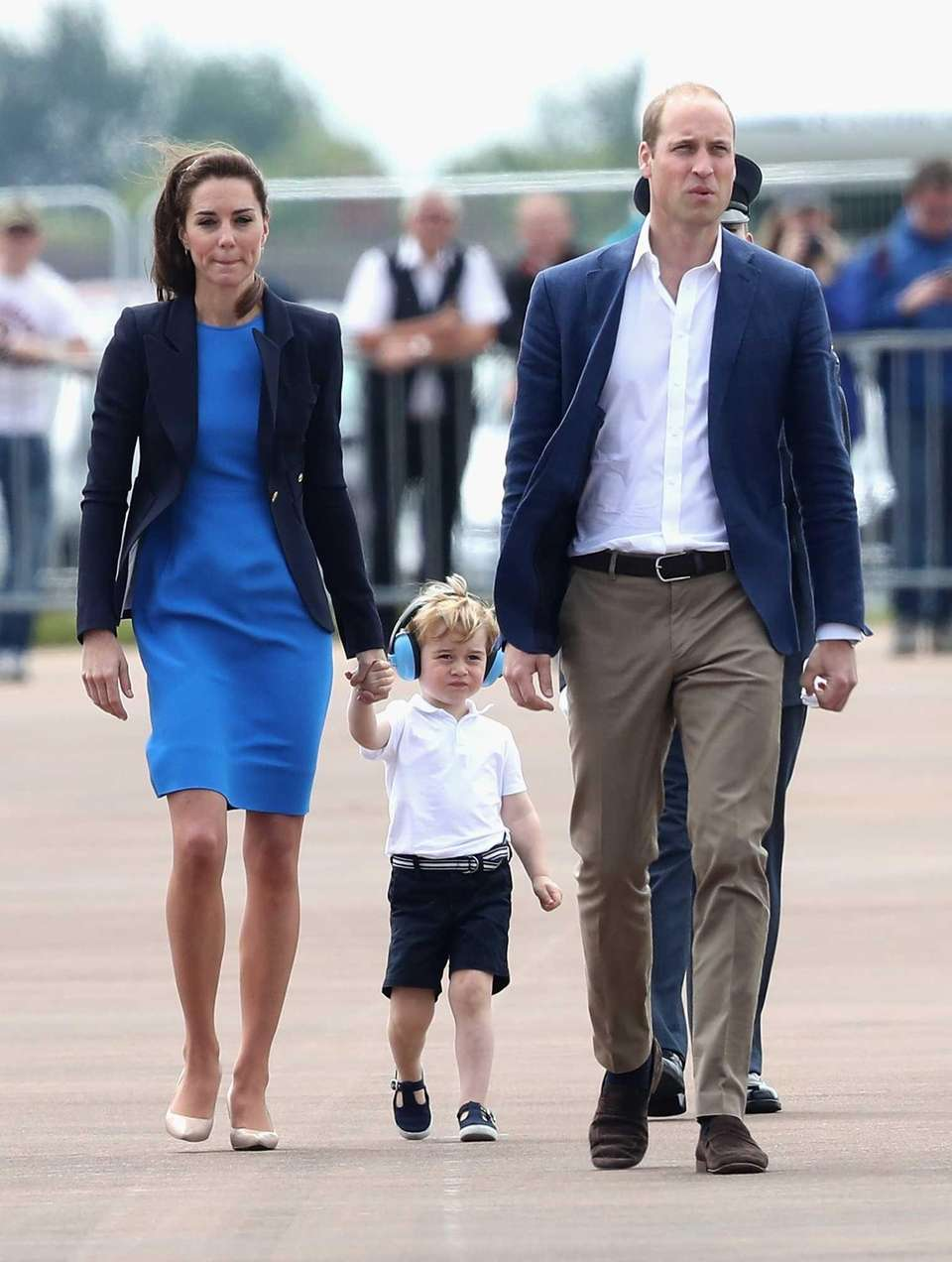Prince William, Kate and Prince George during a