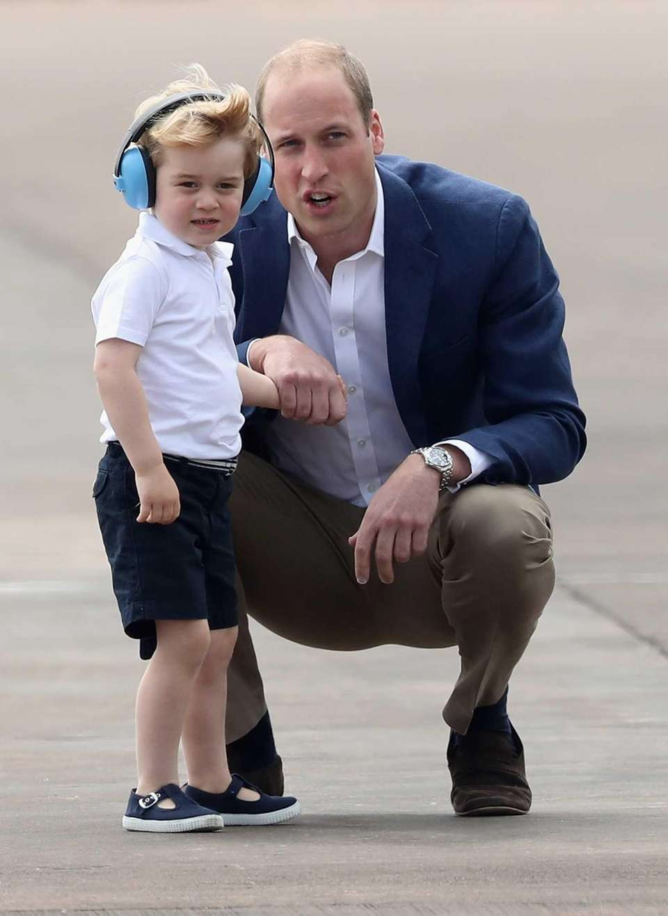 Prince William and Prince George during a visit