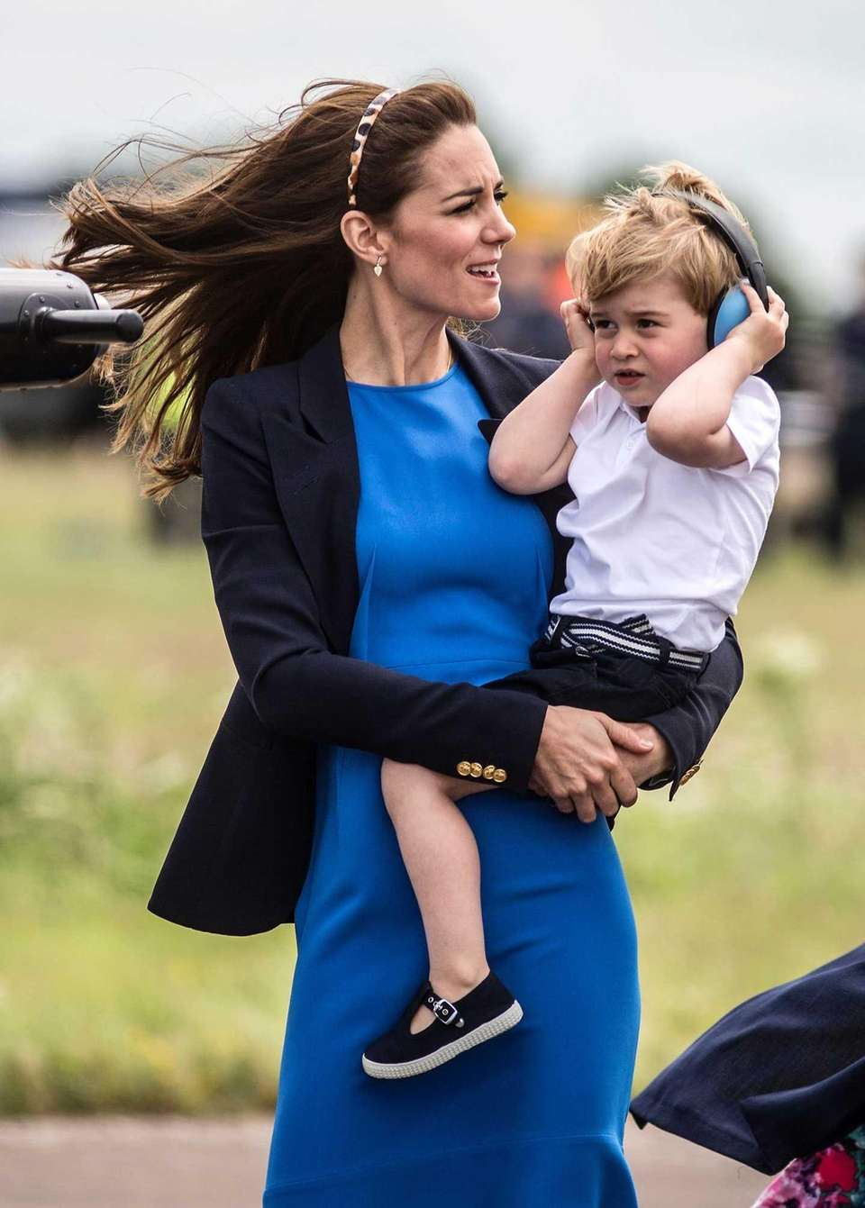 Duchess Catherine and Prince George visit the Royal