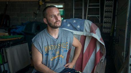 Montoursville resident Kevin Williams, sitting in his garage
