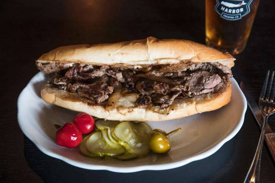 Cheesesteak at Industry Standard Bar, Greenport: The cheesesteak