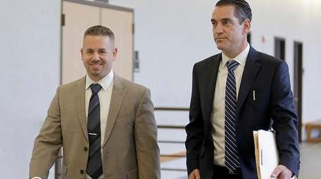 A smiling Stephen Ruth Jr. leaves the courtroom