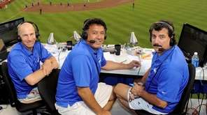 From left, SNY Mets broadcasters Gary Cohen, Ron