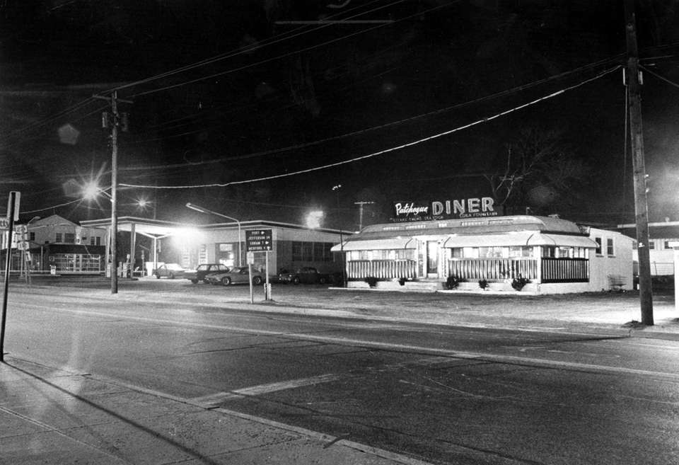 The Patchogue Diner glows on East Main Street
