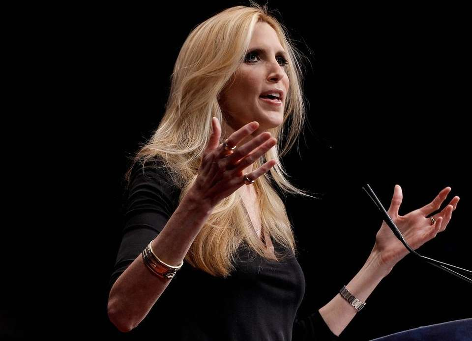 Conservative social and political commentator Ann Coulter has